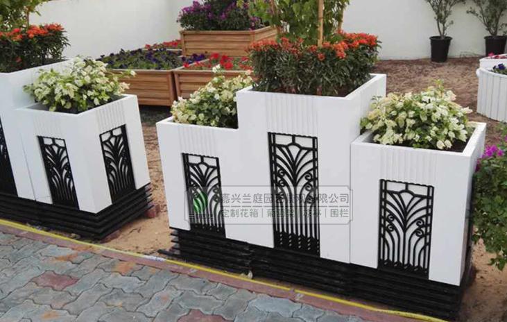 供应pvc微发泡板花箱 脸谱花箱 洛洛克花箱 室外PVC花箱 移动花箱 户外绿化工程