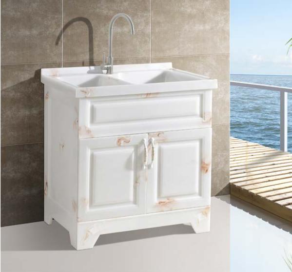 洗衣柜,玉石洗衣柜,全石材人造玉石定制可切角,现代简约风格,小户实用,环保无甲醛