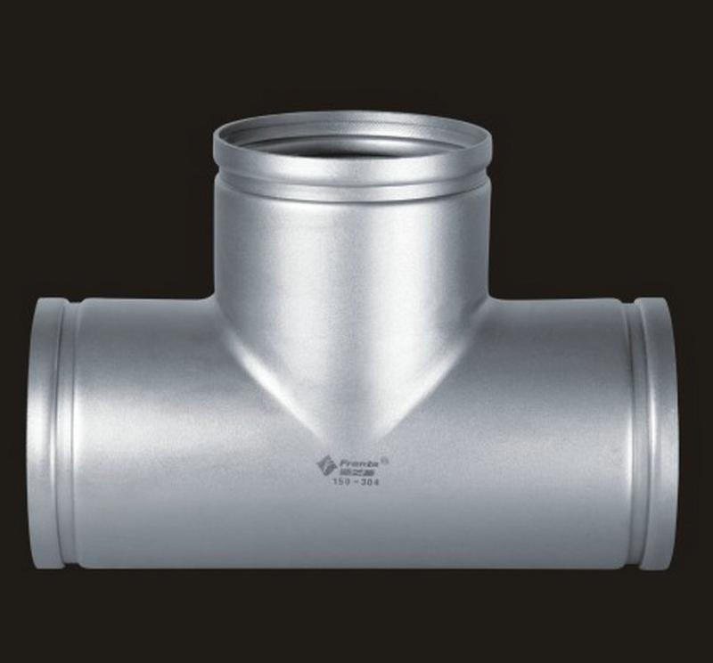 厂家供应  沟槽式不锈钢管件 正三通不锈钢管件