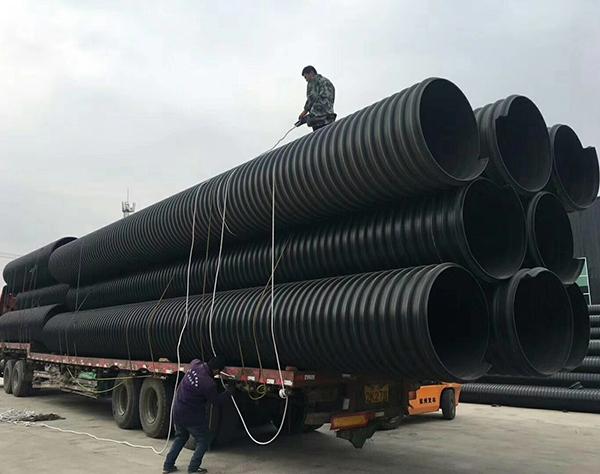 【鲁宁管业】HDPE塑钢缠绕管 聚乙烯塑钢缠绕排水管 市政钢塑排污管厂家直销