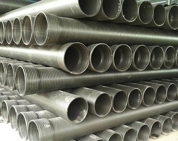 【鲁宁管业】HDPE中空壁缠绕管双壁波纹管-排污排水厂家直销-大口径缠绕管