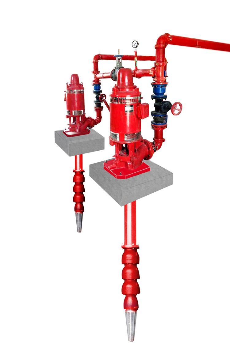 环亚 深井消防泵厂家 干式电机深井消防泵 长轴泵 消防泵