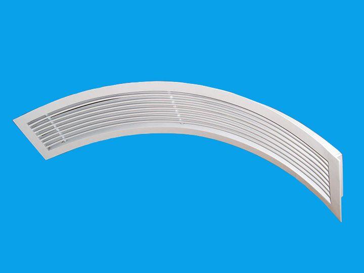 【世纪创远】厂家供应_高品质百叶室外弧形风口 厂家直销