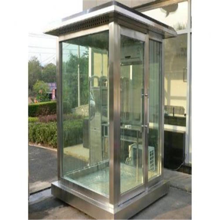 【典派】 钢化玻璃岗亭  钢化玻璃岗亭成品   玻璃岗亭厂家