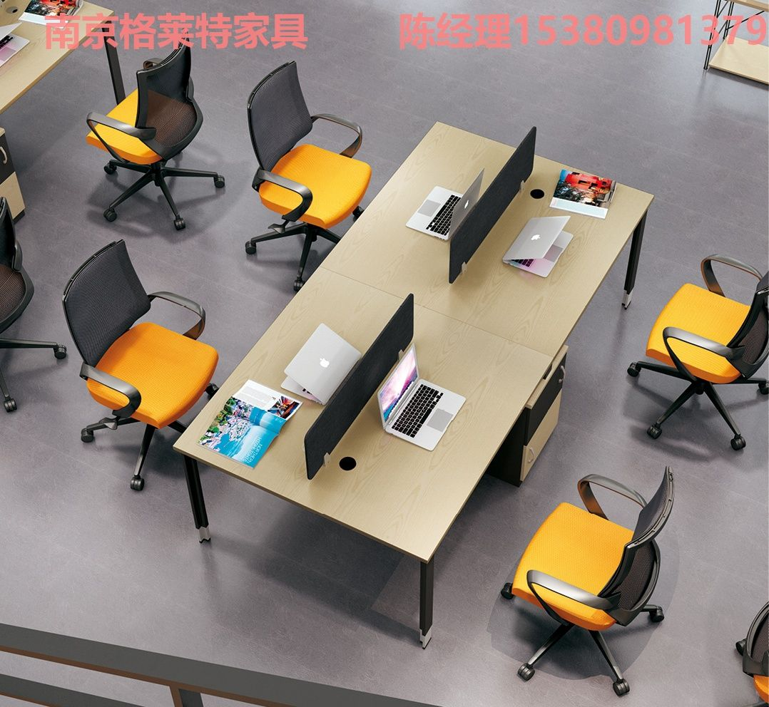 板式办公桌椅定做 员工办公桌椅定制