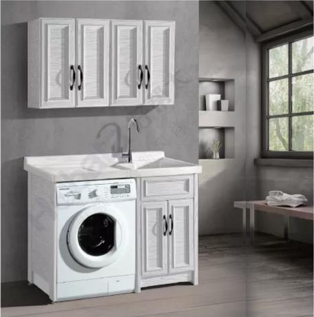 阳台洗衣柜,铝合金转印洗衣柜铝合金洗衣柜洗脸手盆带搓衣板,防火防晒防爆