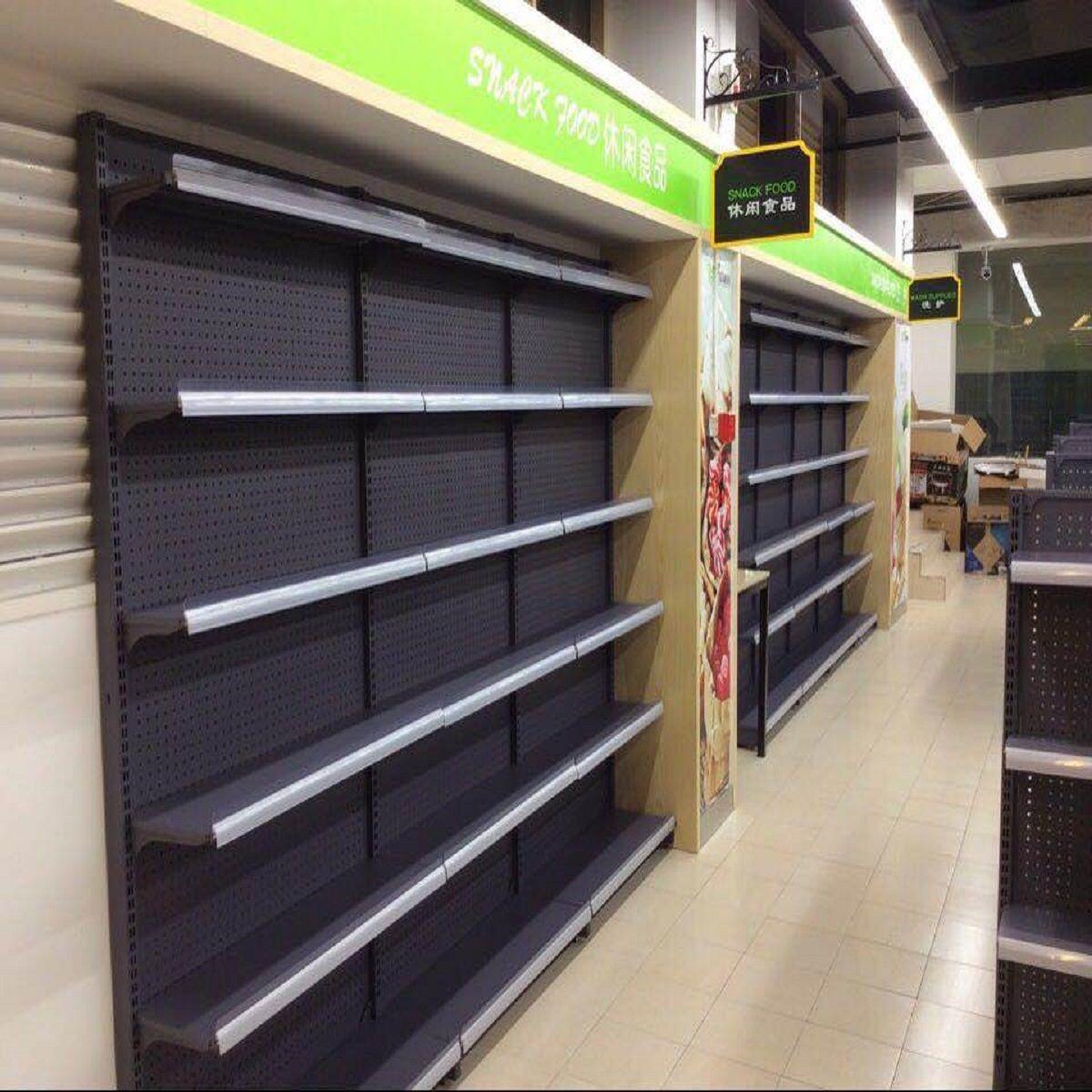 【超市货架】厂家直销 钢木结构超市货架 供应超市货架可定制从优