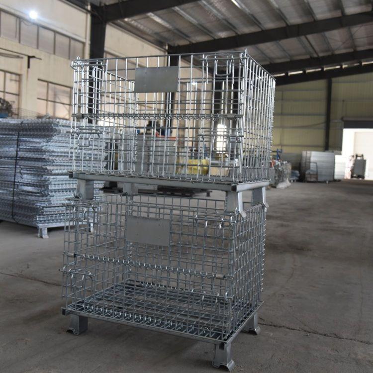 优质仓储笼 带轮子仓储笼 仓储笼 南京网一厂家 折叠仓储笼