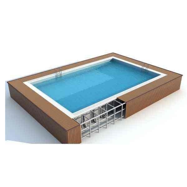 拼装式泳池 钢结构拼装式泳池 装配式游泳池 框架结构泳池 框架式游泳池 围板泳池 可拆卸泳池 钢结构拆装式游泳池 户外钢结构泳池
