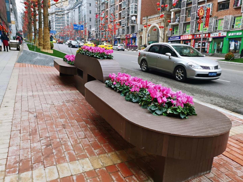 大型链条座椅组合花箱 定制户外PVC花箱 花箱pvc 圆形花箱 pvc景观花箱厂家