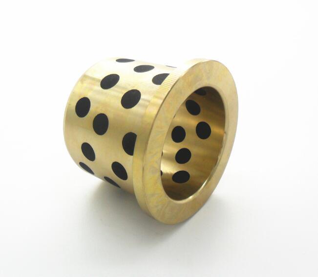 厂家直销JDB石墨铜套 镶嵌石墨固体自润滑轴承 JFB法兰铜套