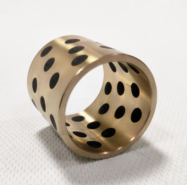 供应JDB石墨镶嵌铜套 JFB自润滑石墨套 高力黄铜铜套 可定制生产