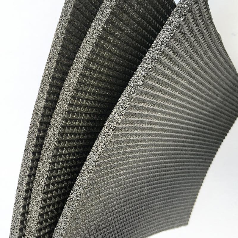 合肥5厚单面凹发泡橡胶减震垫板,建筑工程楼地面隔音专用