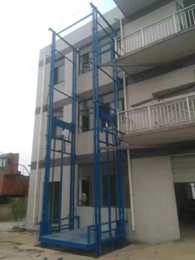 导轨式升降机 液压导轨升降货梯 工厂二层 三层货物升降平台