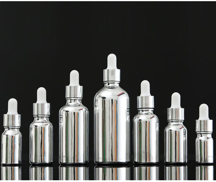 银色电镀精油瓶 电镀精油瓶  银色滴管瓶  可定制- 精选厂家 南通鑫德医药包装材料有限公司