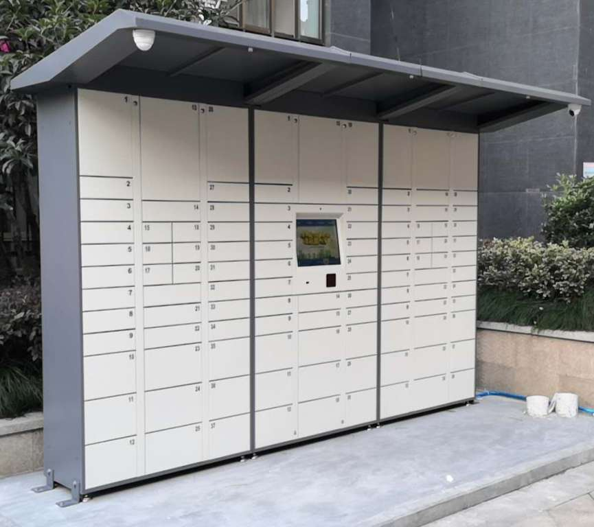 校园智能快递柜存包柜储物柜自动智能接收纳箱智能快递柜取件柜子