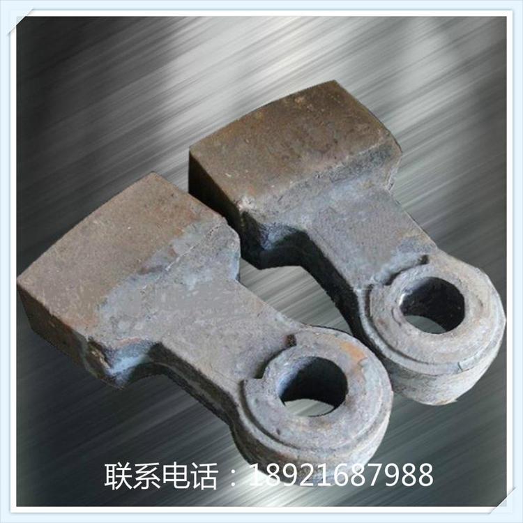 高铬板锤生产厂家及公司 1214反击破板锤_PF1210高铬耐磨板锤 首选如皋潮源铸造有限公司