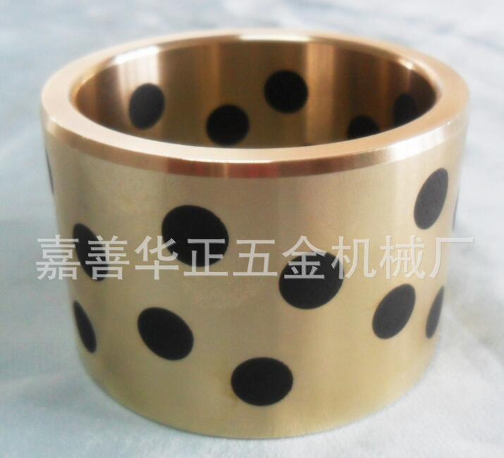 供应嘉善JDB铜套 固体镶嵌石墨铜套,自润滑铁套 一件代发