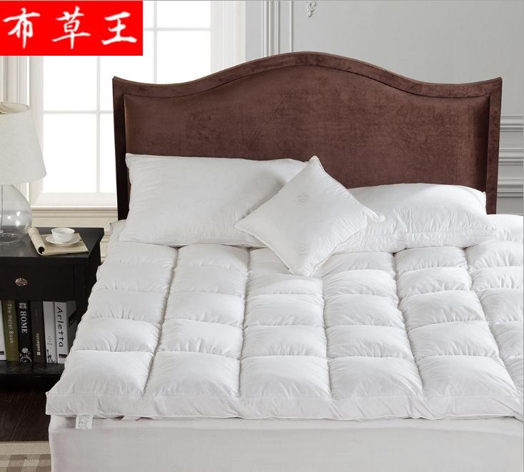 五星级酒店床上用品布草床垫全棉双层羽丝绒床垫定制