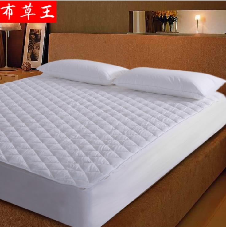 星级酒店床上用品布草床垫全棉双层羽丝绒床垫定制批发