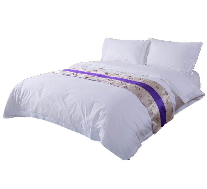五星级酒店贡缎四件套工厂批发 民宿床上用品定做 60支80支全棉贡缎四件套