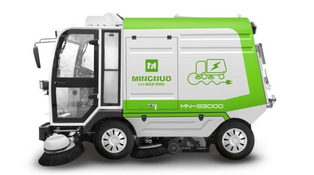 明诺电动清扫车MN-S3000  大型道路扫地车,四轮扫地车 电动路面清扫车