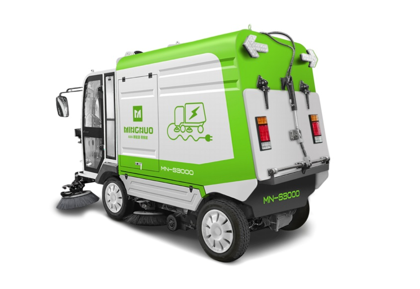 ,明诺路面清扫车MN-S3000  大型道路扫地车,四轮扫地车 电动路面清扫车