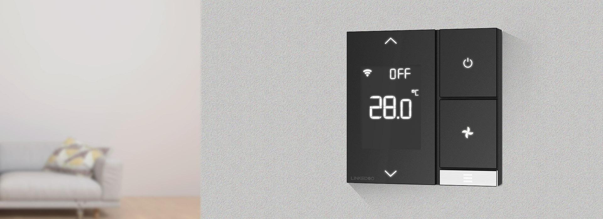 青春款智能温控器 控制面板 空调控制面板 新风控制面板