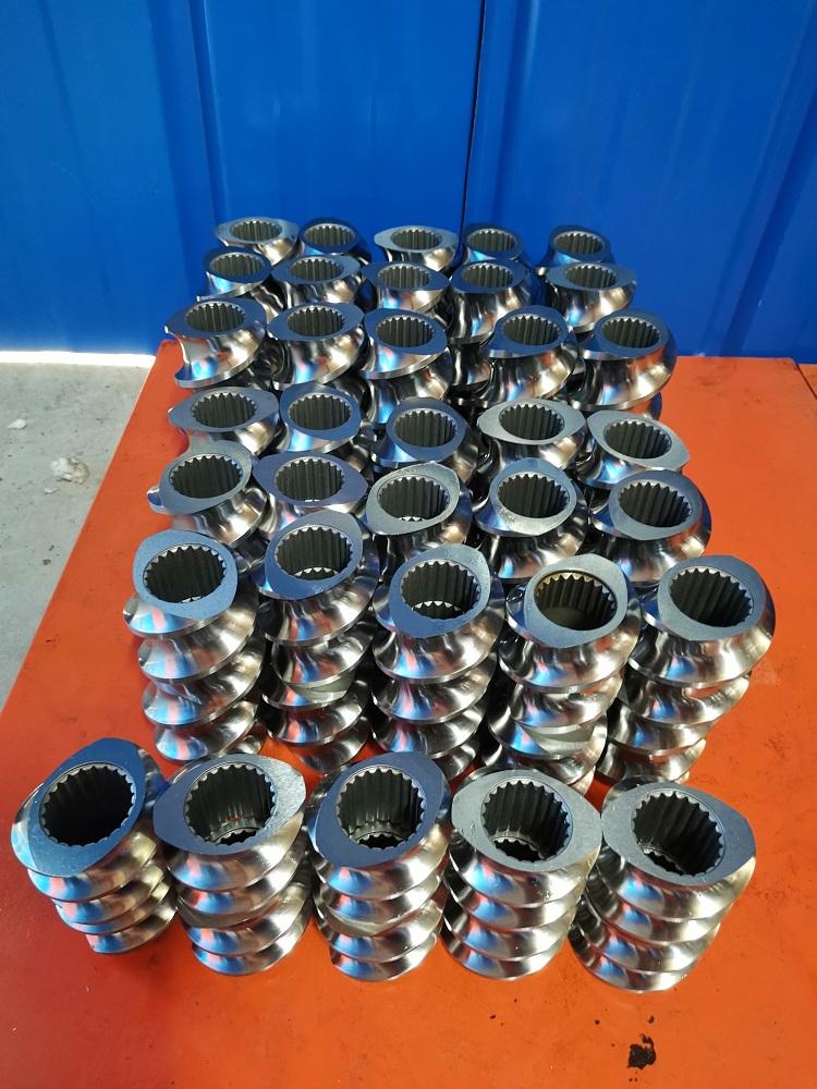 博瑞特专业定制-高耐磨合金双螺杆挤出机螺纹元件-挤出机螺套-啮合块-长期供应