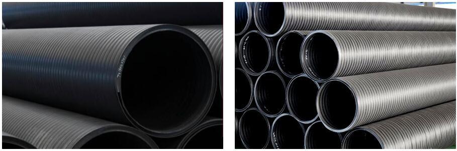 厂家直销 HDPE中空壁缠绕管 大口径排污管 双壁缠绕排水管