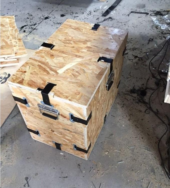 可折叠木箱 专业木箱打包公司 定做卡扣木箱 木制品包装厂家 亮越包装