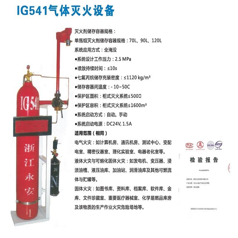 灭火设备 柜式IG541气体灭火设备 七氟丙烷灭火厂家 杭州IG541气体灭火
