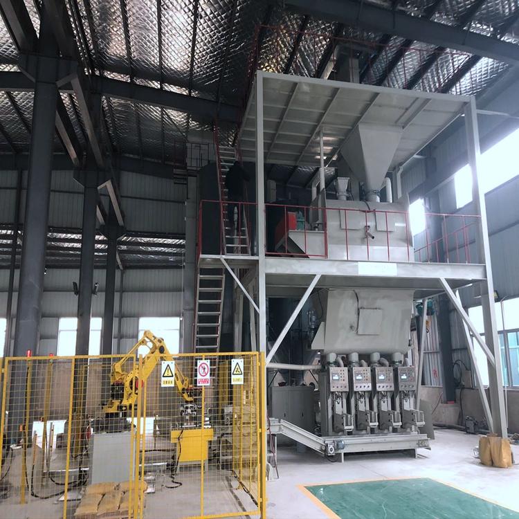 石膏砂浆生产线 每小时8吨至20吨的砂浆设备