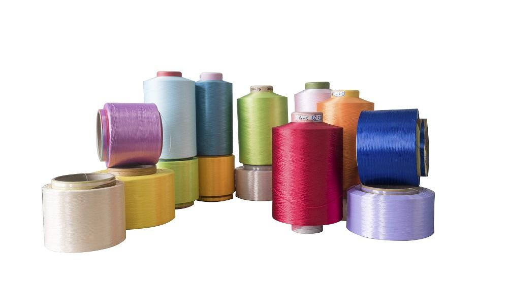 厂家直销供应POY/DTY涤纶色丝150D/300D低弹网络色丝,涤纶低弹丝。