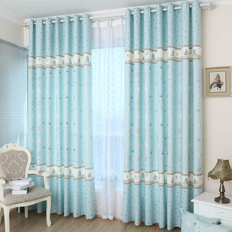 现代简约风格 布艺窗帘厂家  定做电动布艺窗