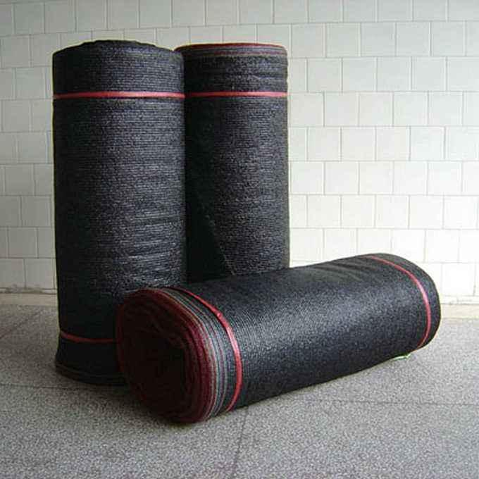 厂家直销全新料黑色平针平织遮阳网 黑色加密遮阳网