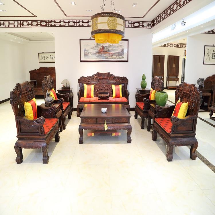 宝马沙发11件  红木沙发  红木中式沙发