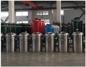 砂缸过滤器蓝色 饮用井水过滤器 直通式除污器