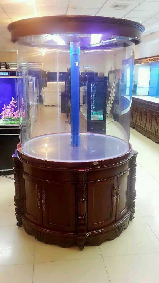 可丽水族-实木鱼缸定制订制定做_定制家用雕刻实木鱼缸_大型观赏实木鱼缸定制