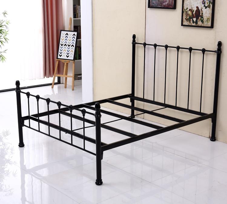 单层铁架床 员工民用宿舍床 公寓床