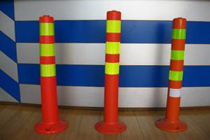 警示分道体分道标 分道器 道路隔离桩隔离标导向分流标反光导流体