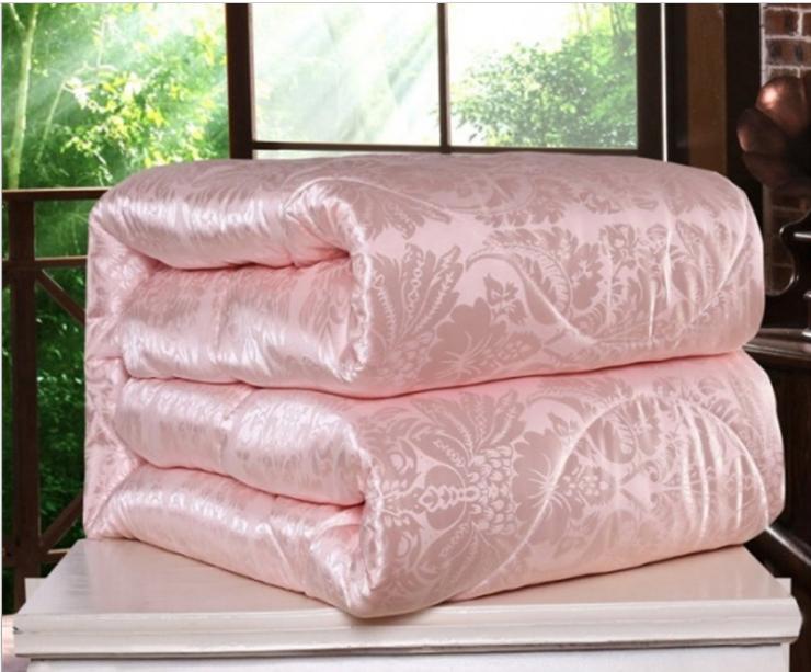 100%蚕丝被冬被全棉桑蚕丝被子6-8斤加厚保暖子母被