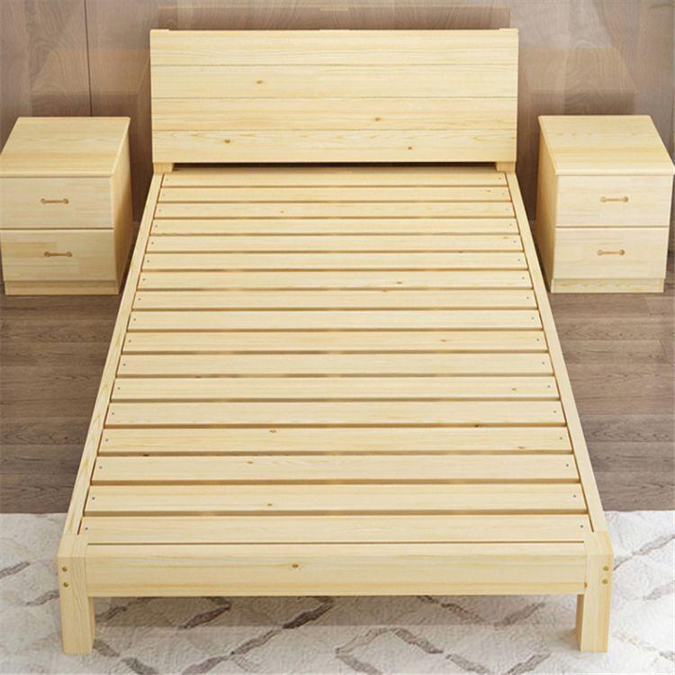 江苏 南京松木床 单床实木床 公寓床现货免费送