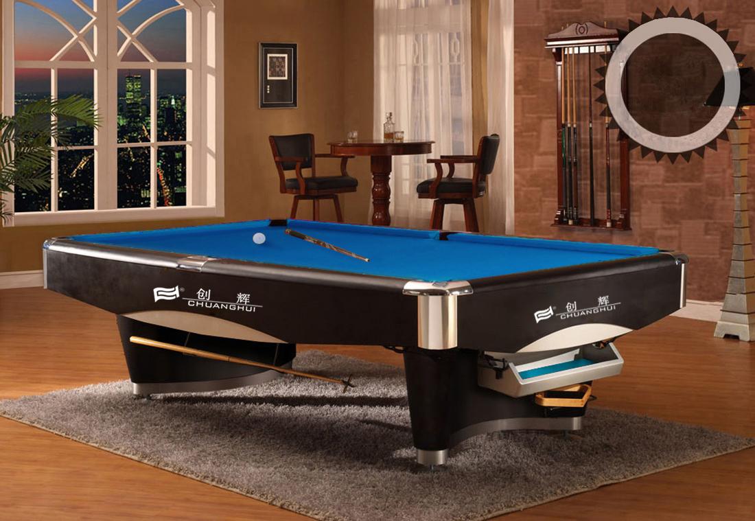 创辉豪华花式五代九球台CH-9912 桌球 标准台球桌 台球二合一 中式黑八成人桌球台 台球案子南京