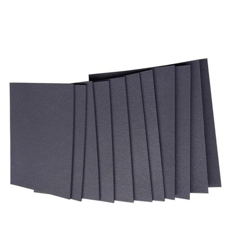 单面凹发泡橡胶隔音减震垫环保材料 楼板保温5mm聚乙烯发泡隔音垫隔音毡