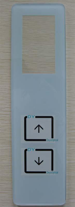 厂家直销 电梯外呼面板定制 玻璃钢化丝印 电梯面板 向阳定制
