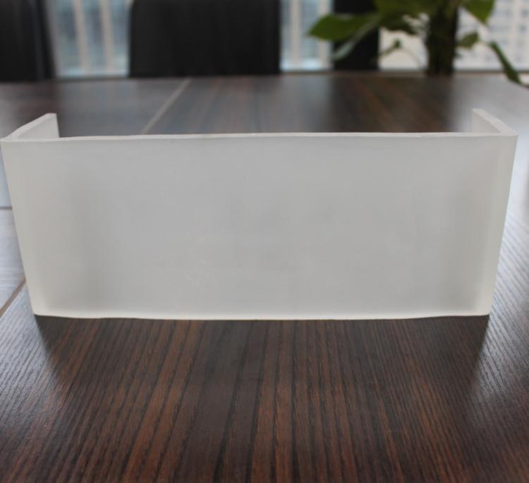 超白小四季纹喷砂U型玻璃 U型玻璃  U型玻璃定做   u型玻璃施工