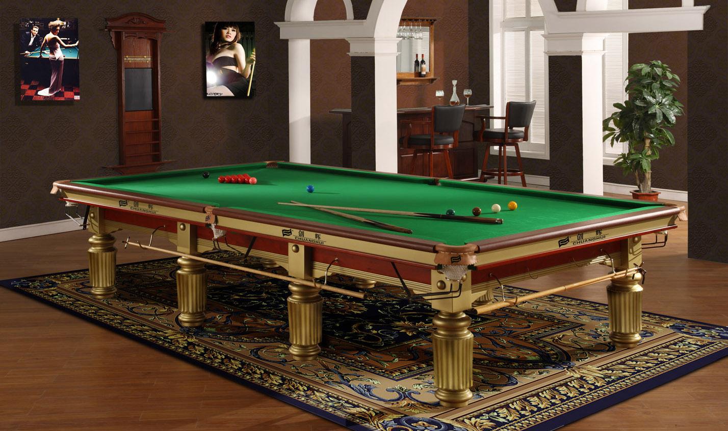 创辉英式国际比赛台CH-1002A 桌球 标准台球桌 台球二合一 中式黑八成人桌球台 台球案子南京