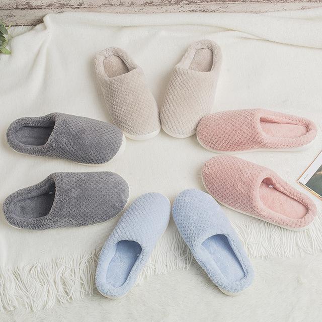 棉拖冬季家用保暖防滑灯芯绒毛拖鞋可爱蝴蝶结情侣家居棉拖鞋批发