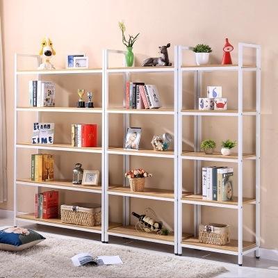 货架置物架多层客厅收纳架子钢木铁艺储物架儿童简易书柜书架落地